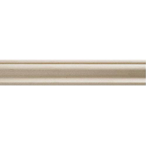 Moulure panneau en bois blanc dur de style colonial 3/8 po X 1-1/4 po - prix par pièce 8 pied