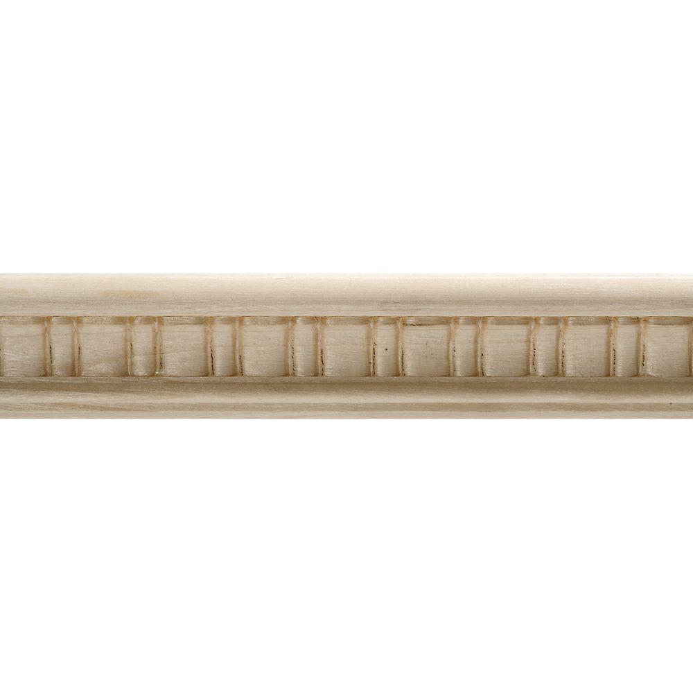 Alexandria Moulding 13/16-inch x 1-1/2-inch x 8 ft. Basswood Dentil Decorative Moulding