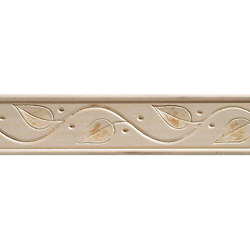 Moulure décorative en bois blanc dur, gaufrée en feuilles de lierre 11/32 X 1-3/4 - prix par pièce 8 pied