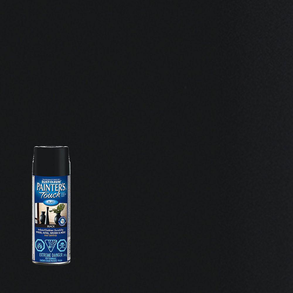 Rust-Oleum Painter's Touch Peinture Multi Usages En Noir Mat - 340 Aérosol
