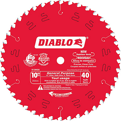 10 In. Diablo General Purpose Blade - 40 Teeth