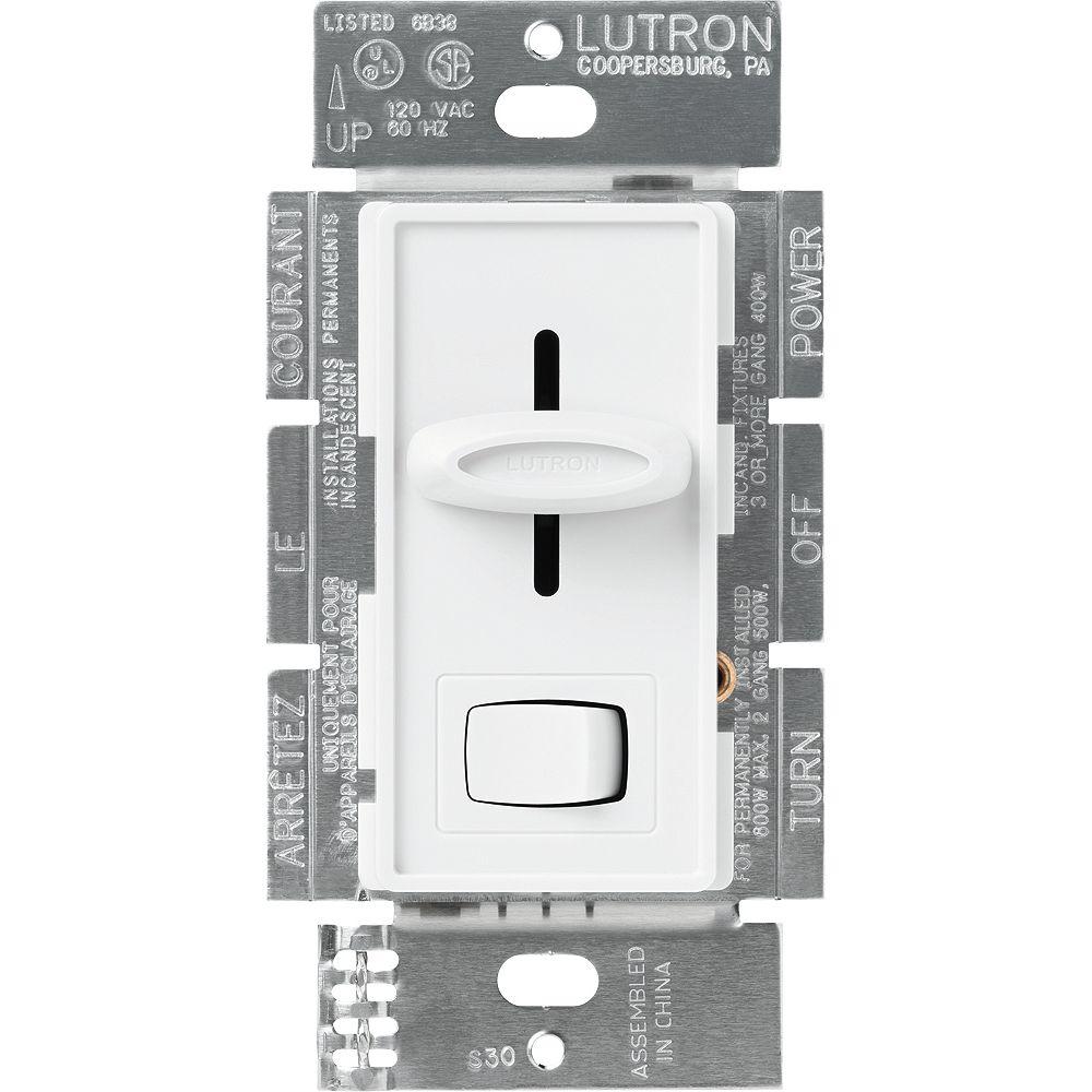Lutron Skylark 6-inch x 7-inch 300W Single Pole Electronic Low-Voltage Dimmer in White