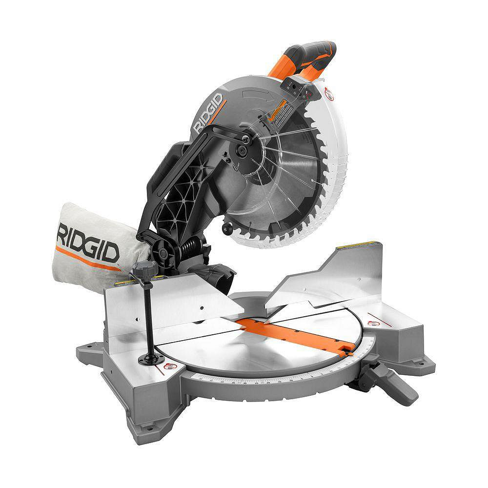 RIDGID 15-Amp 12-inch Dual Bevel Mitre Saw with Laser