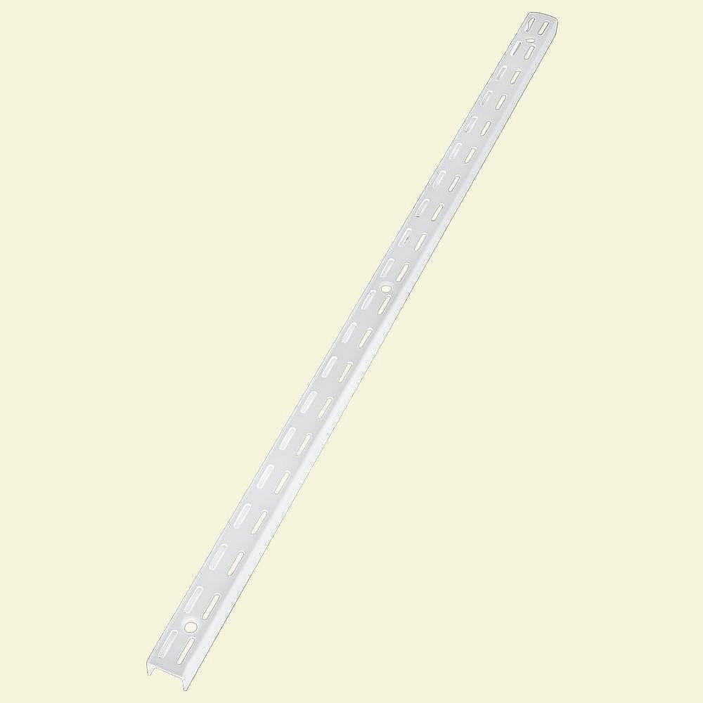 Rubbermaid Montant à fentes doubles, 47,5po, blanc