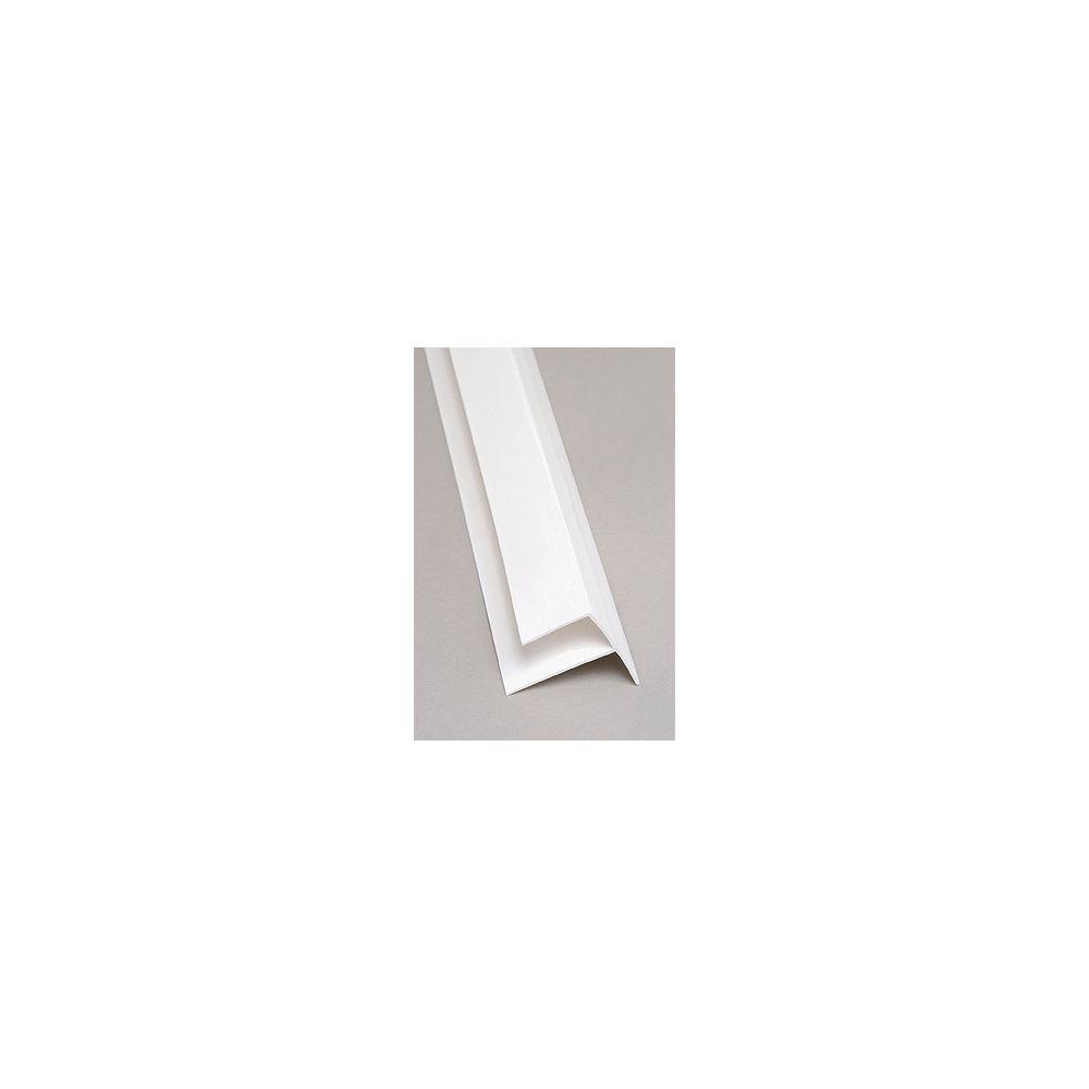 EXCELiner Outside Corner PVC White Moulding 8 Ft.