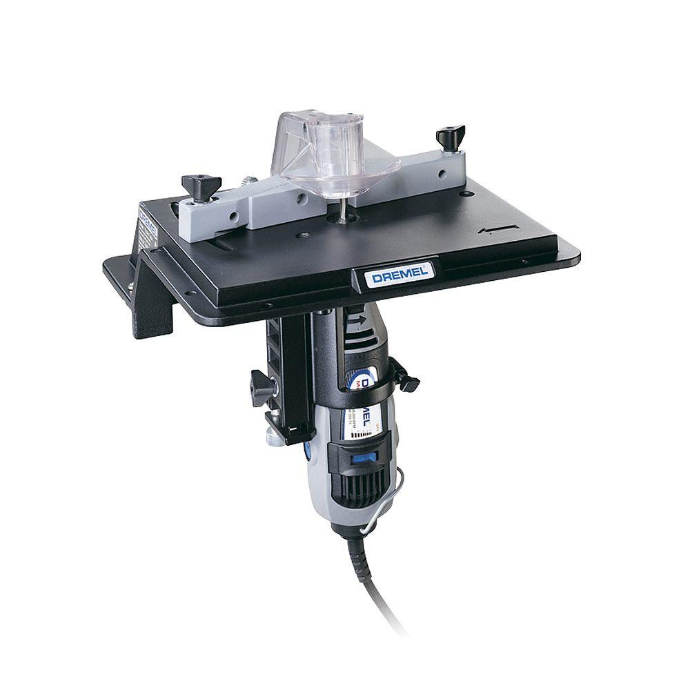 Dremel Toupie et table de toupillage de 8 po x 6 po pour outil rotatif