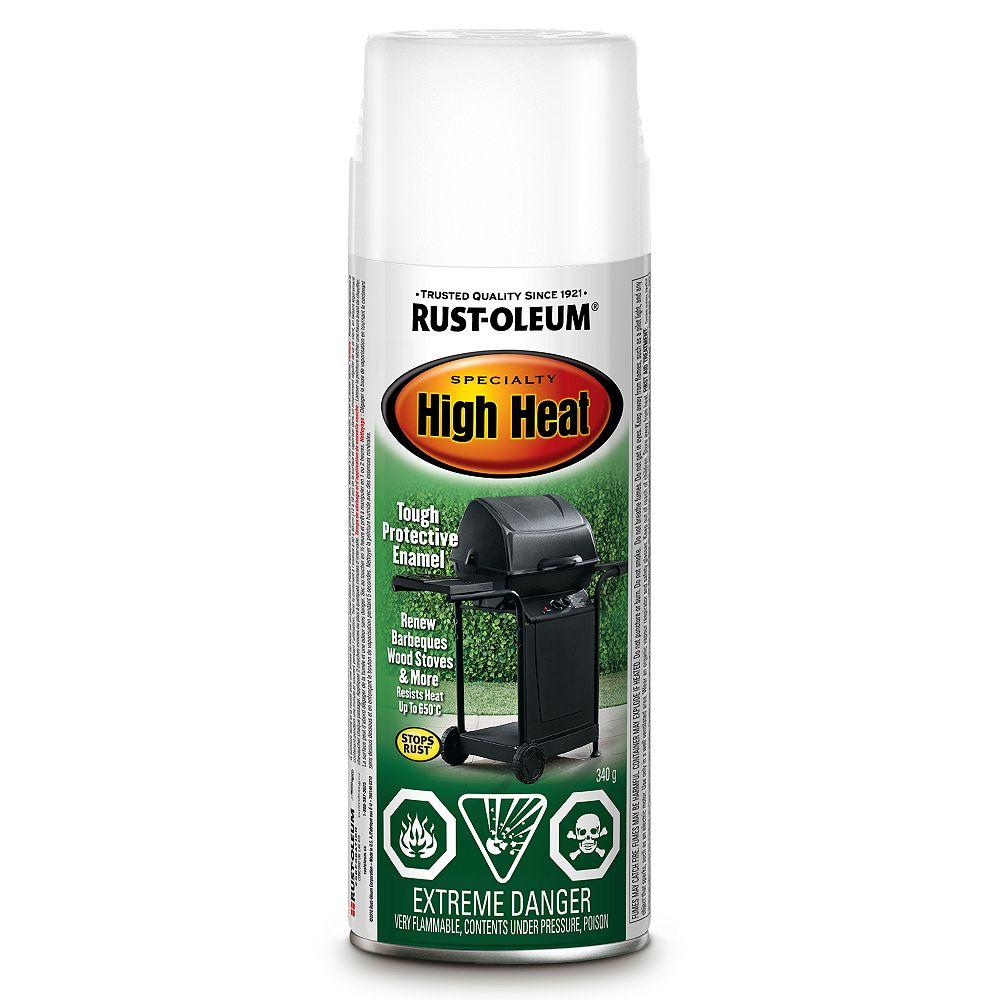 Rust Oleum Specialty High Heat Enamel In White 340 G Aerosol Spray Paint The Home Depot Canada