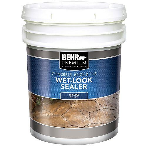 Concrete, Brick & Tile Wet-Look Sealer, High-Gloss - 18.9 L
