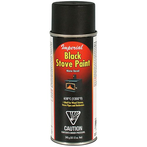 340g Black Water-Based Stove Paint