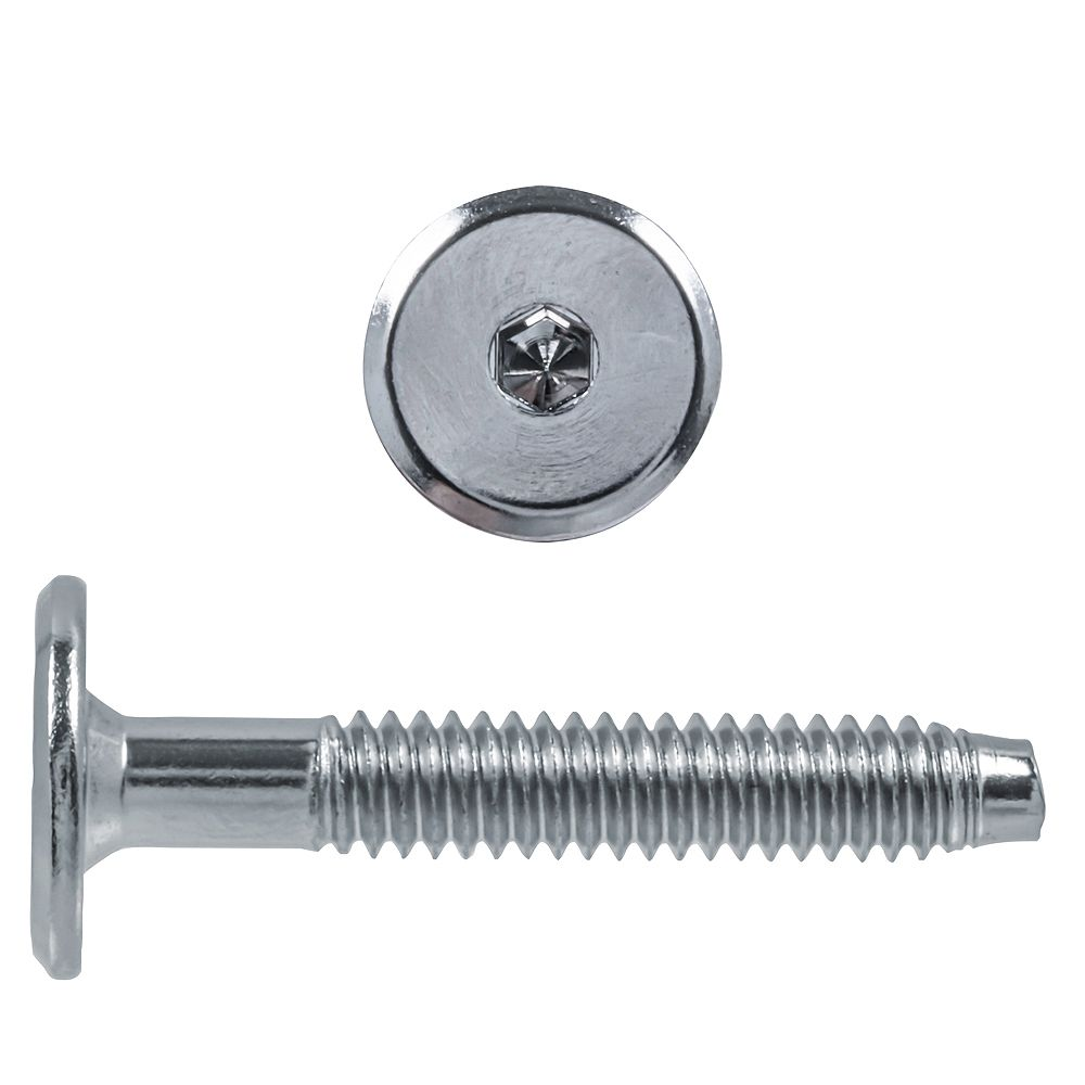 Paulin 1/4-20 x 1-5/8-inch Hex Drive Connector Bolt Nickel Plated