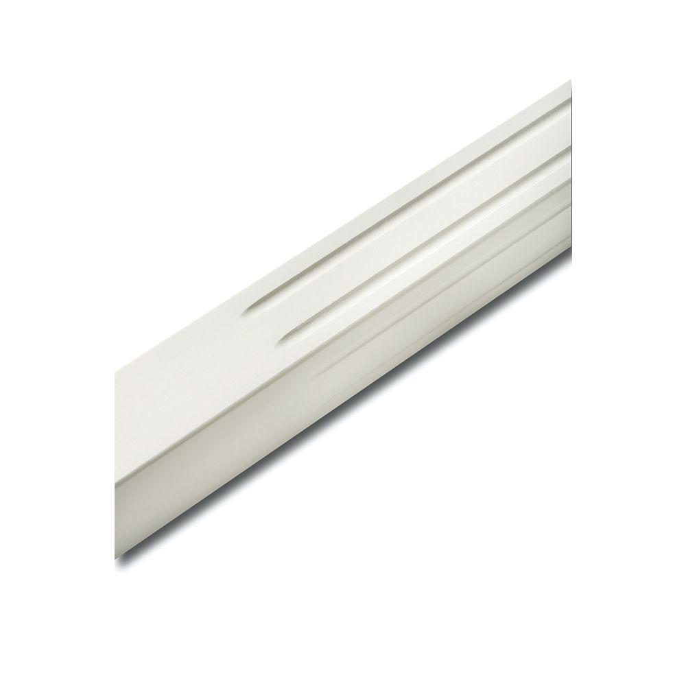 Alexandria Moulding Balustre carré cannelé de 1 1/2 pouce x 1 1/2 pouce x 36 pouces laqué blanc