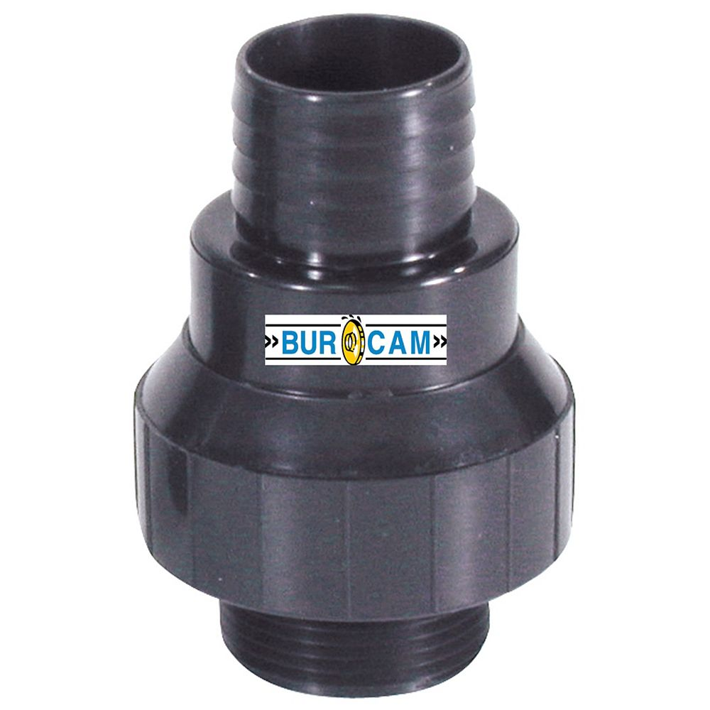 Bur-Cam Soupape Retenue Vert.1 1/4Mnpt X 1 1/4Barb & 1 1/2Abs/Dwv