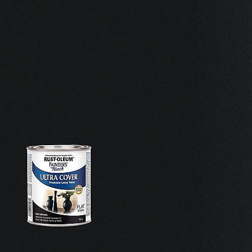 Painter's Touch Multi Purpose Paint In Flat Black, 946 mL