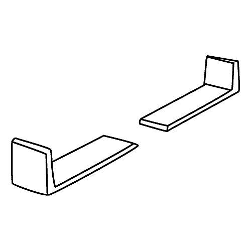 Wooden Drawers White Plastic Corner
