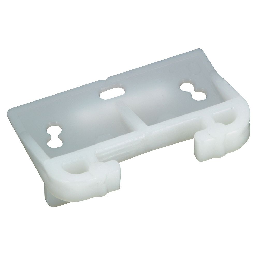 Richelieu Central Guide for Center Mount Metal Slides, White