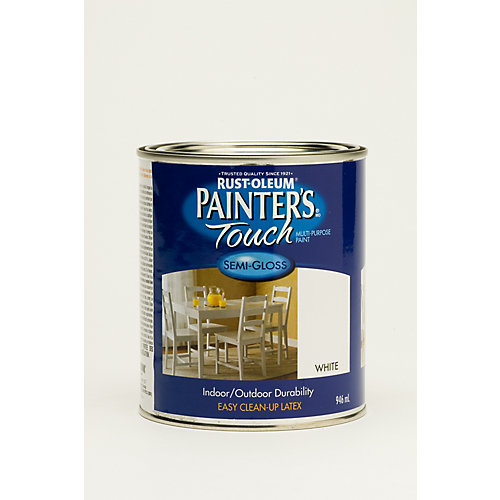 Peinture Tout Usage En Blanc Semi-Lustré - 946 Ml