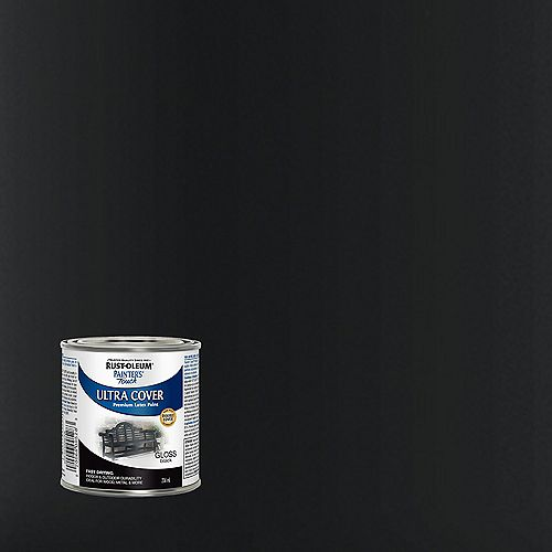 Rust-Oleum Painter's Touch Multi-Purpose Paint in Gloss Black, 236 mL