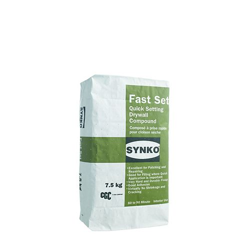 CGC Fast Set Setting Type Drywall Compound, 7.5 kg Bag