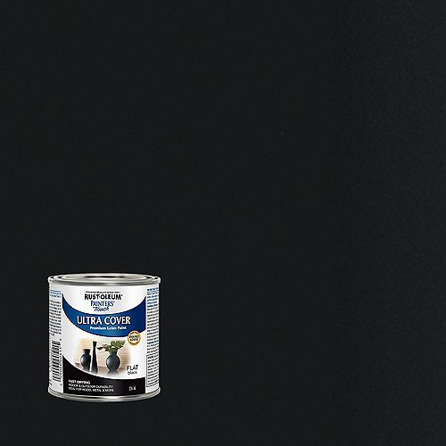 Painter's Touch Multi Purpose Paint In Flat Black, 236 mL