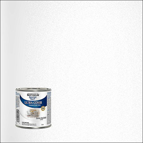 Painter's Touch Multi Purpose Paint In Semi-Gloss White, 236 mL