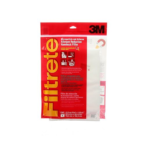 30x60x1 MPR 1000 Micro Particle and Airborne Allergen Reduction Hammock Filtrete Furnace Filter