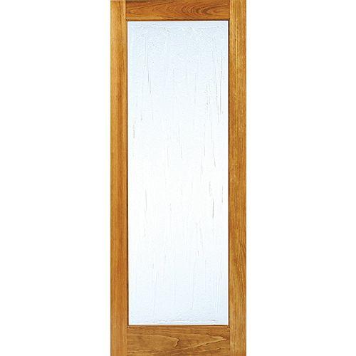 """32x80 Porte de style Art Déco 1 verre architectural """"Suzanne"""" en pin clair"""