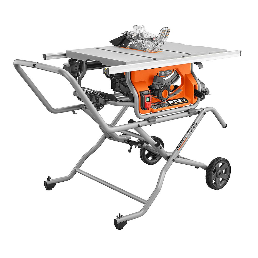 Rigid 10 -inch Pro Jobsite Table Saw with Stand R4514