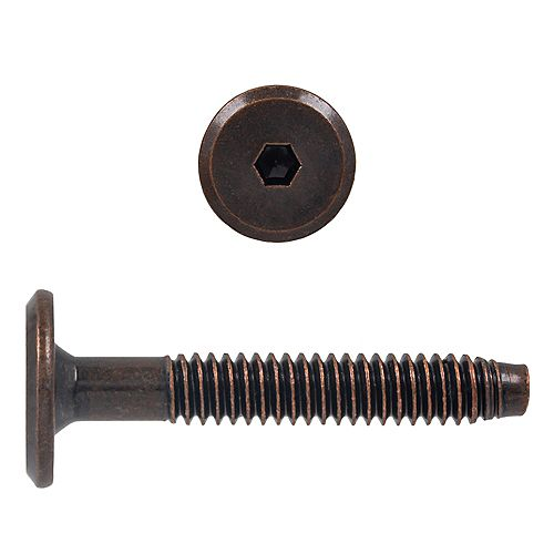 1/4-20 x 1-5/8-inch Hex Drive Connector Bolt Antique Bronze