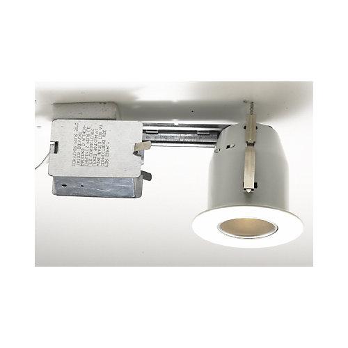 Silver Reflector Trim, W/Housing, White