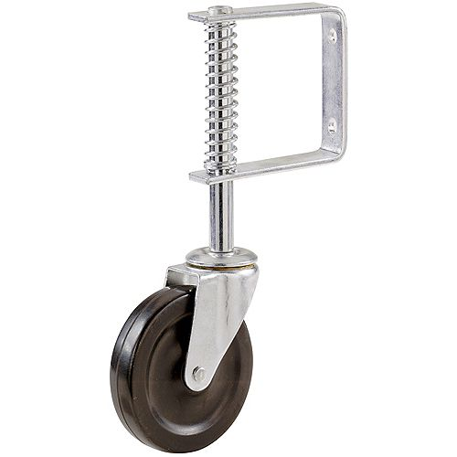 4-inch Gate Caster with Adjustable Spring Bracket and 125 lb. Load Rating