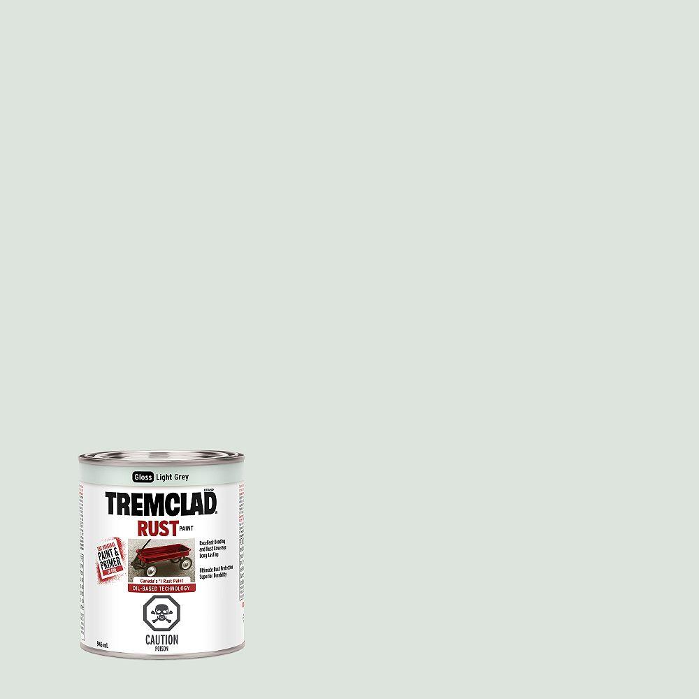 TREMCLAD Peinture Antirouille À Base D'Huile En Gris Pâle Lustré - 946 mL