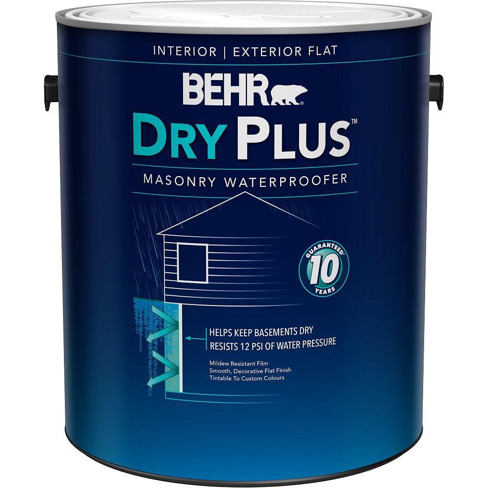 BEHR DRYPLUS Imperméabilisant intérieur/extérieur pour maçonnerie, Blanc, 3,79 L