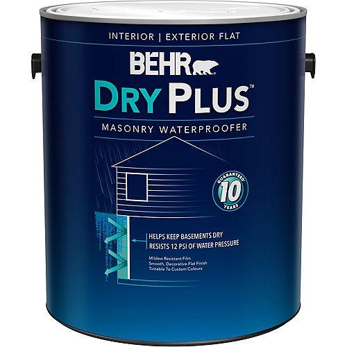 DRYPLUS Imperméabilisant intérieur/extérieur pour maçonnerie, Blanc, 3,79 L