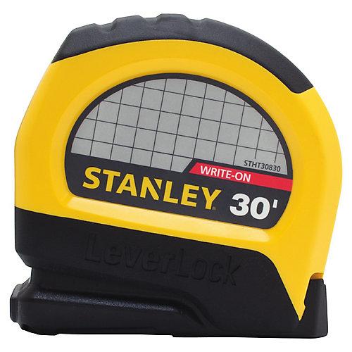 30 Foot x 1 Inch  Leverlock Tape Measure