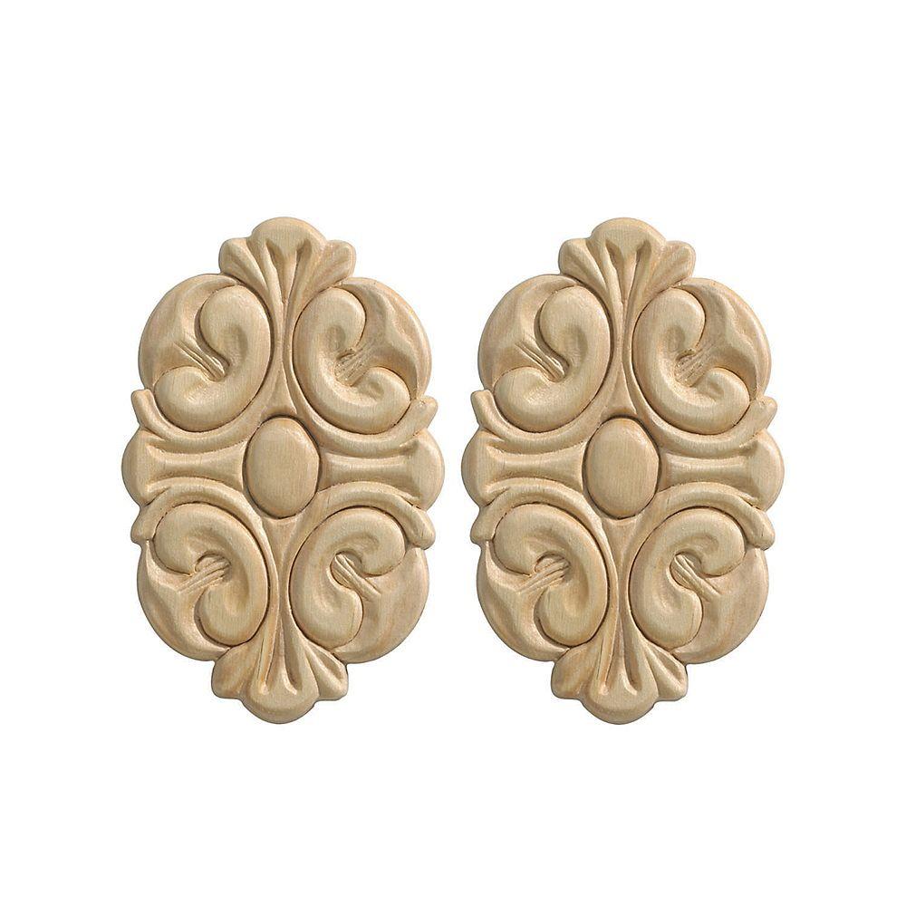 Ornamental Mouldings Petit ornement central acanthe (2/carte)