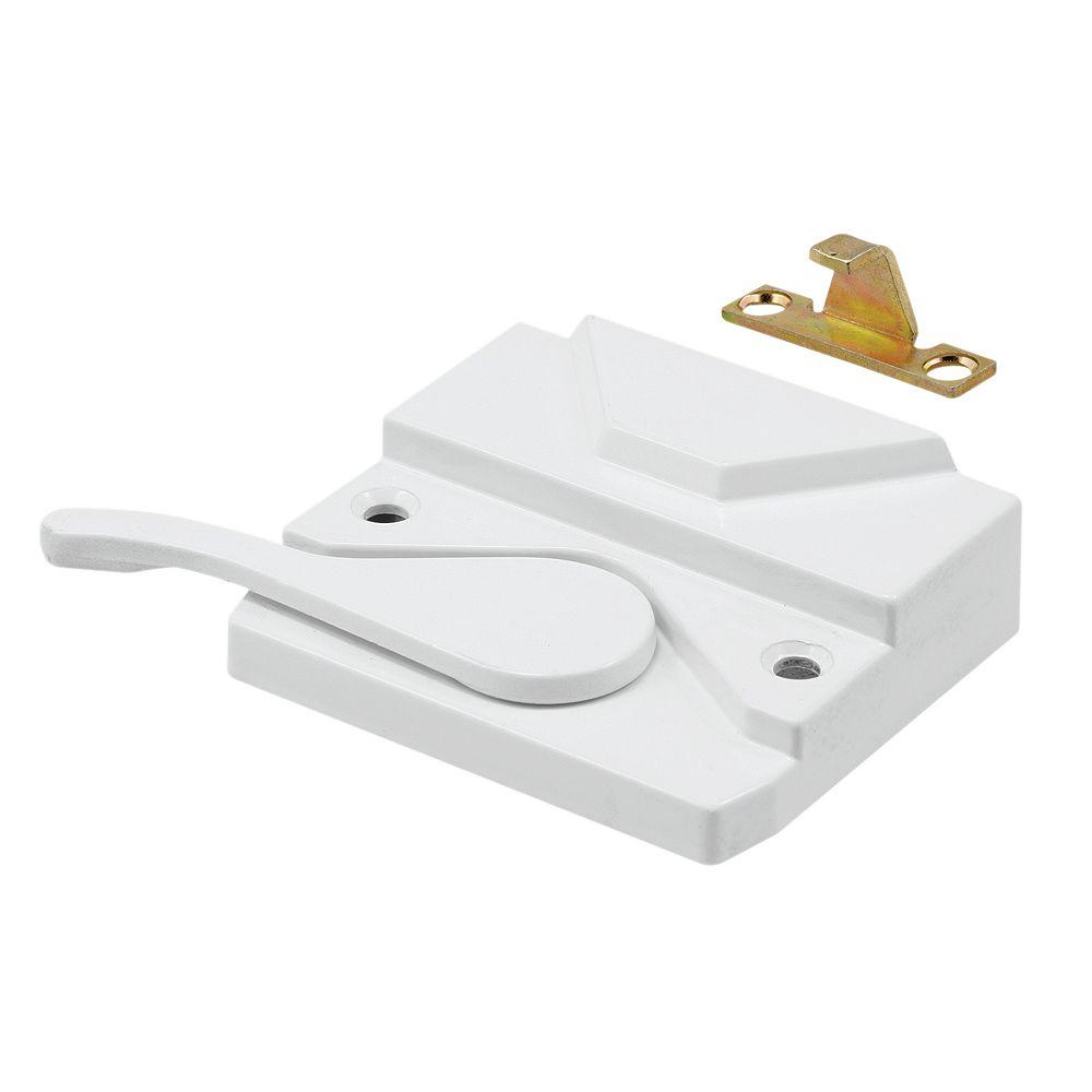 Prime-Line Verrou de châssis et loquet, droit, blanc