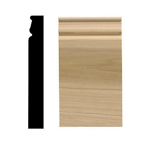 Socle colonial, 4 1/2 po x 8 po, bois franc blanc