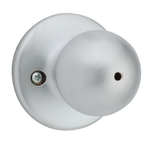Yukon Satin Chrome Bath/Bedroom Privacy Knob Set