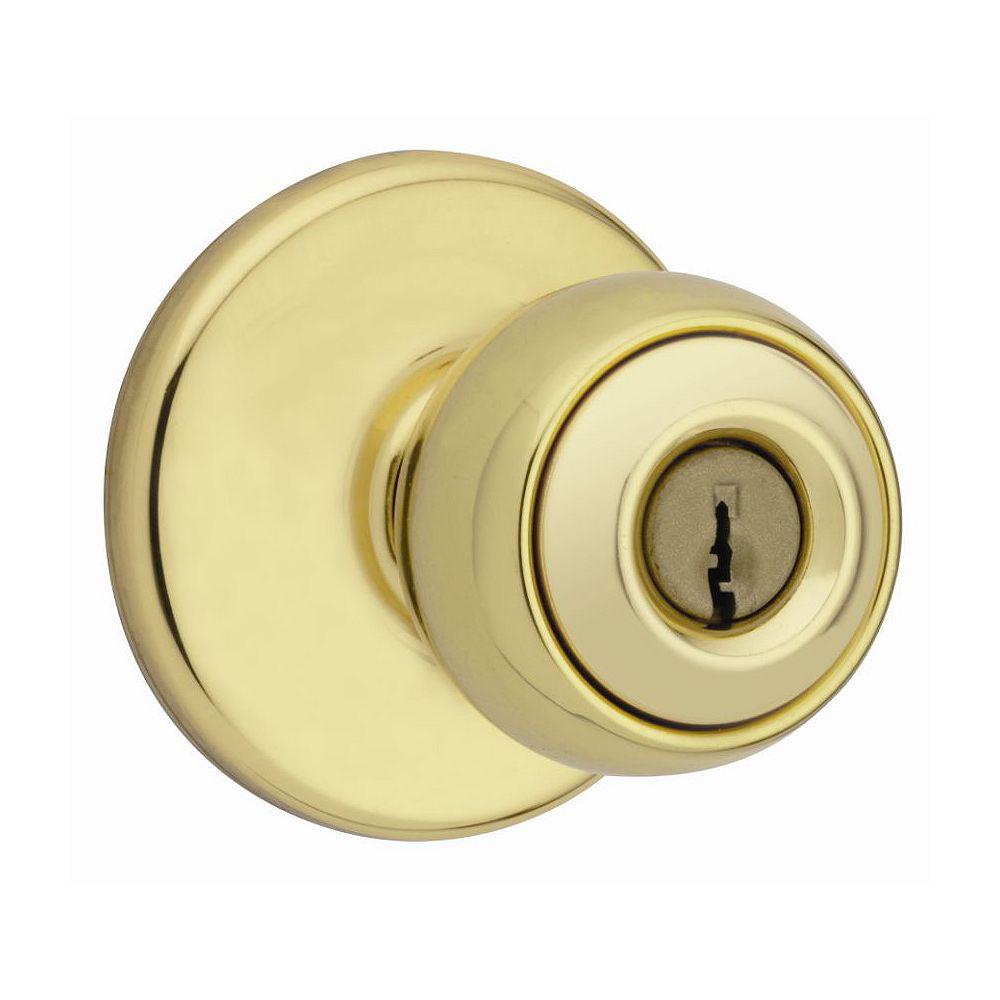 Weiser Yukon Bright Brass Keyed Entry Knob