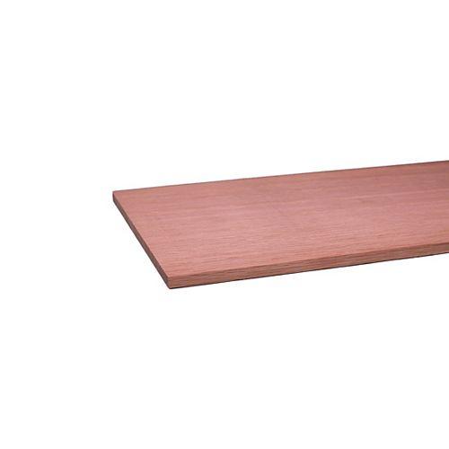 Alexandria Moulding Panneau de bricolage B4F en chêne 1/4 po x 6 po x 3 pi