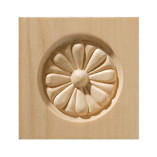 Bloc de coin en bois blanc dur - 3-1/2 x 3-1/2 po