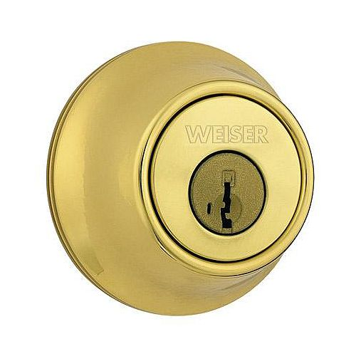 Weiser Brass Single Cylinder Deadbolt