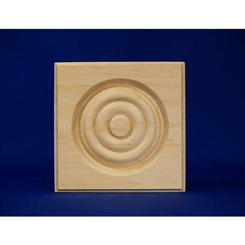 Alexandria Moulding Pine  Corner Block 7/8 X 3 3/4 X 3 3/4