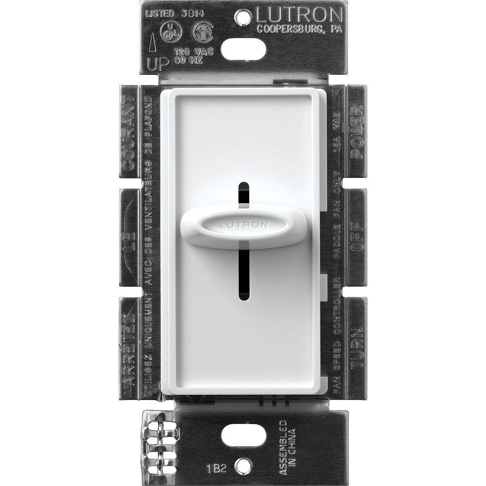 Lutron Skylark Quiet Three Speed Fan Control in White