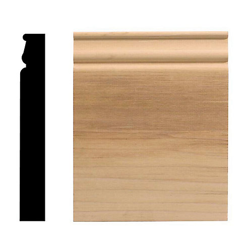 Socle colonial, 6 1/2 po x 8 po, bois franc blanc