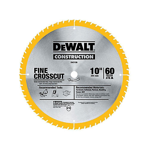 20 Series 10-inch 60T Fine Finish Saw Blade