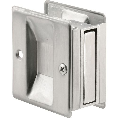 Satin Chrome Pocket Passage Door Pull
