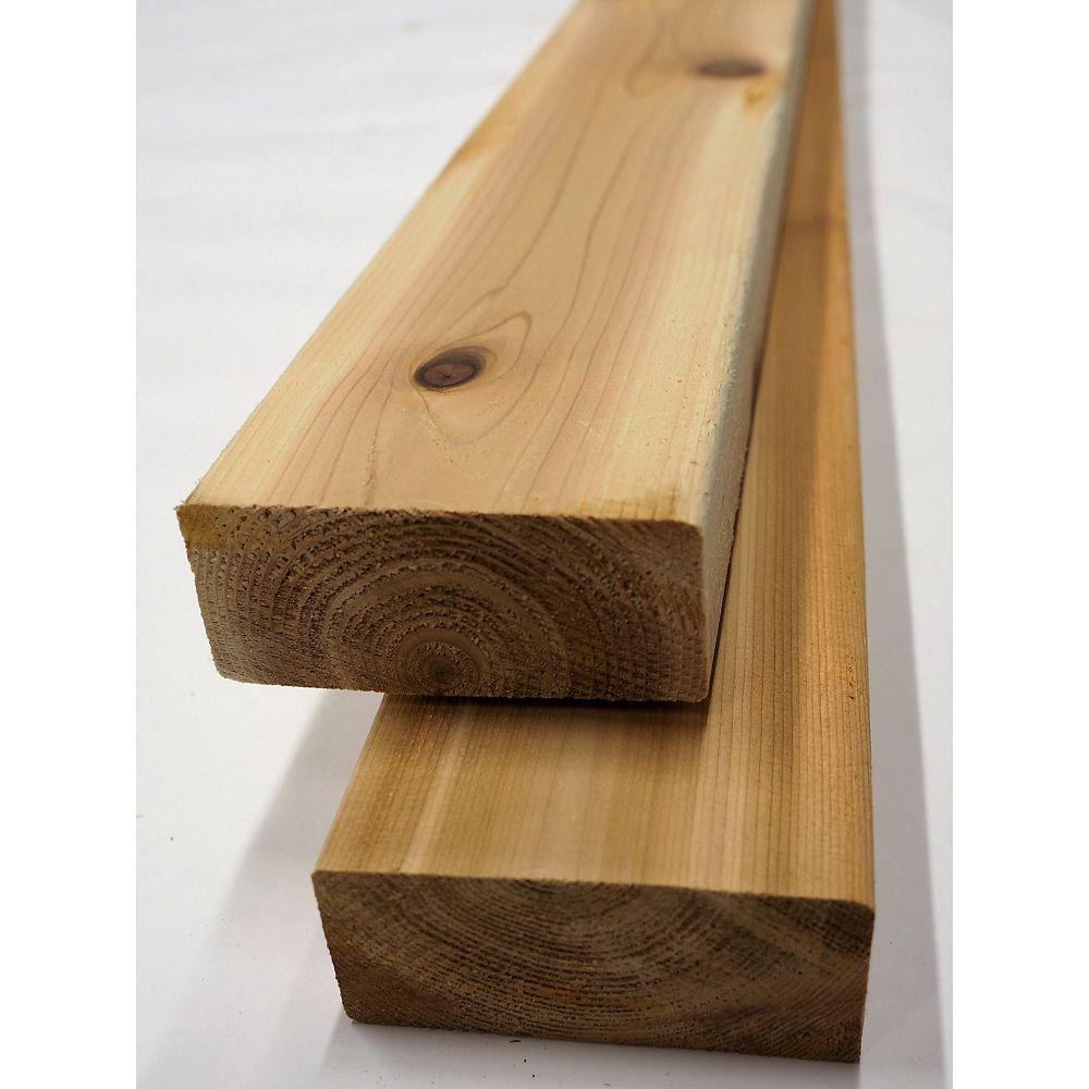 Cedar 2 x 4 x 12 Prime cèdre Decking (2x4x12) (2x4)