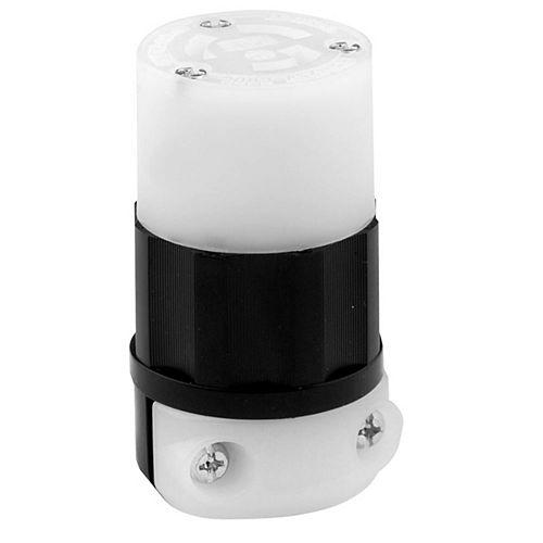 Leviton 15 Amp Locking Connector 125V, Black