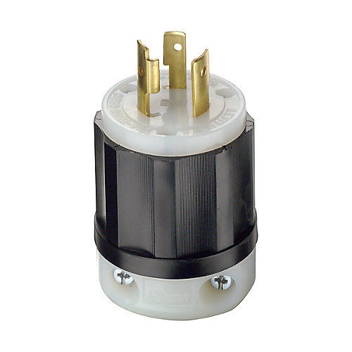 20 Amp Locking Plug 250V, Black And White
